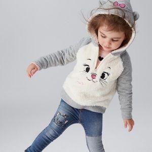 NWOT babyGAP Disney Girl Cat Zip Hoodie Size 5